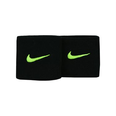 Nike Swoosh Wristbands - Black/Volt