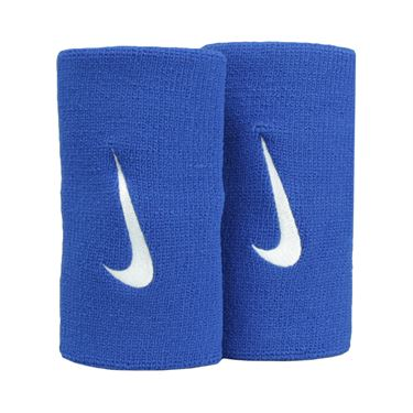 Nike Tennis Premier Doublewide Wristbands - Blue Jay/White