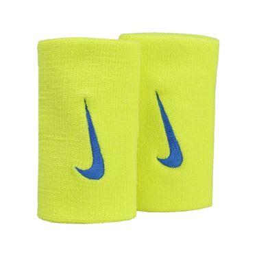 Nike Tennis Premier Doublewide Wristbands - Sonic Yellow/Blue Jay