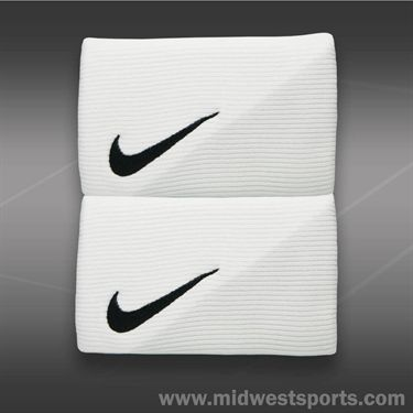 Nike Diagonal Double Wide Wristbands-White/Grey