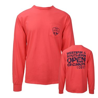W&S Open Logo Long Sleeve Pocket Tee - Pop Orange