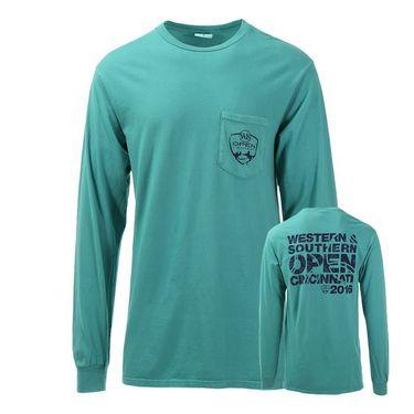 W&S Open Long Sleeve Pocket Tee - Peacock