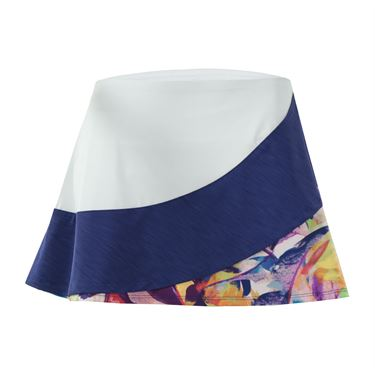 Eleven Prism 13 Inch Triple Threat Skirt - White/Navy/Prism Print