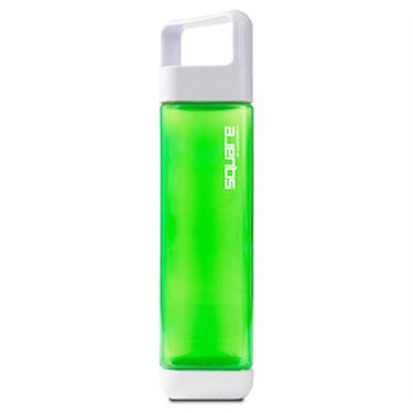 Square Plastic 25oz Water Bottle - Green