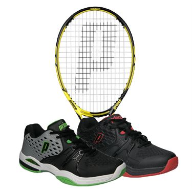 Prince Tour 98 ESP Tennis Racquet, Tennis Shoe Bundle