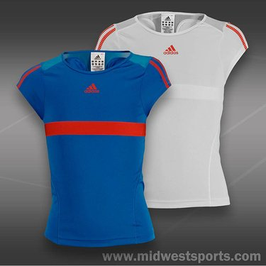 adidas Girls adipower Barricade Cap Sleeve