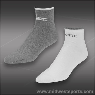 Lacoste Tipped Logo Quarter 2 Pack Sock RA1869-51-JLV