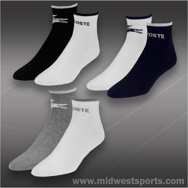 Lacoste Tipped Logo Quarter 2 Pack Sock