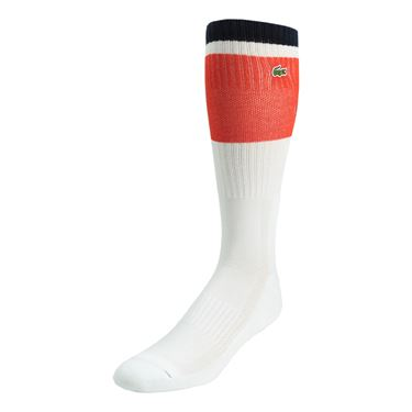 Lacoste Mens Sport Compression Crew Sock - White/Corrida/Navy