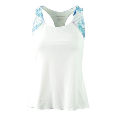 Denise Cronwall Trista Printed Racerback Top - White