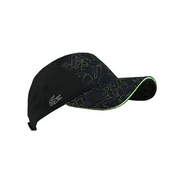 Lacoste Performance Printed Panel Hat - Black/Fluo Green/France Blue