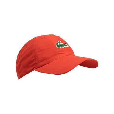 Lacoste Mens Sport Poly Logo Hat - Matador Red