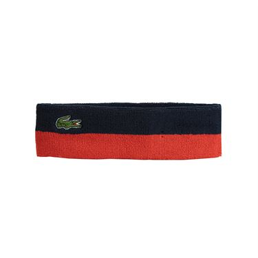 Lacoste Mens Sport Color Block Sweatband - Navy/Corrida