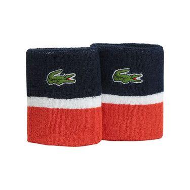 Lacoste Mens Sport Color Block Wristband - Navy/White/Corrida