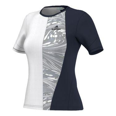 adidas Stella McCartney NY Barricade Tee - Navy/White/Grey