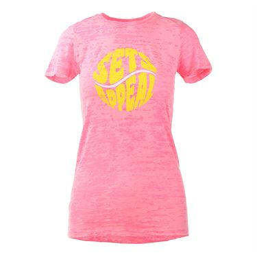 Love All Sets Appeal T-shirt - Neon Pink Burnout