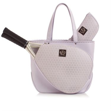 Court Couture Savanna Perforated Tennis Tote Lilac
