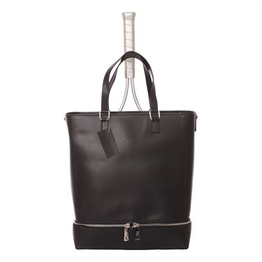 Sofibella Leather Tote Bag- Black