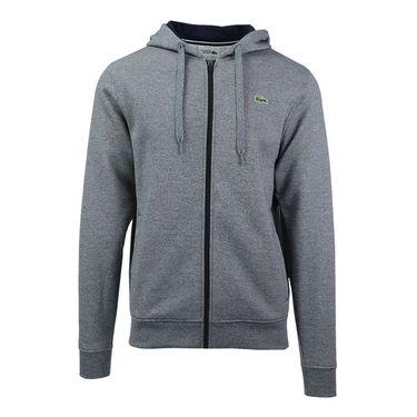 Lacoste Sport Full Zip Hoodie Fleece Sweatshirt - Navy