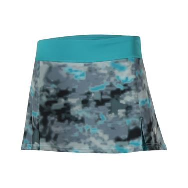 Prince Printed Skirt - Grey/Blue Curacao