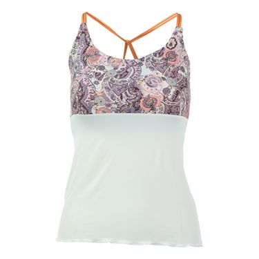 Denise Cronwall Mulberry Printed Spaghetti Strap Tank