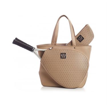 Court Couture Savanna Perforated Tennis Bag - Taupe