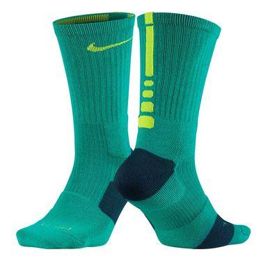 Nike Dri Fit Elite Crew Sock - Rio Teal/Volt