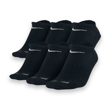 Nike Dri-FIT No Show 6-Pack Sock Black