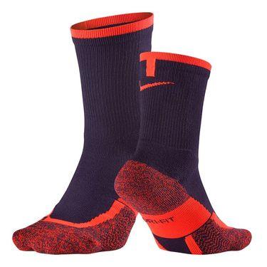 Nike Elite Tennis Crew Sock - Purple Dynasty/Total Crimson