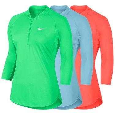 Nike Court Dry 3/4 Sleeve 1/2 Zip