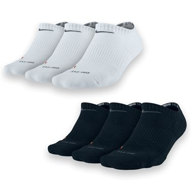 Nike Dri Fit Half Cushion No Show 3 Pack Socks