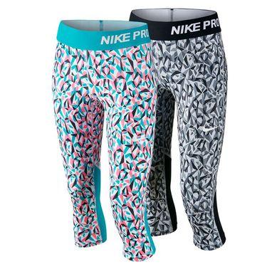 Nike Girls Pro Cool Allover Print Capri