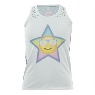 Lucky in Love Girls Starry Eyed Tank - White