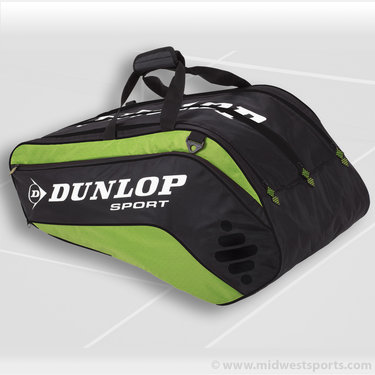 Dunlop Biomimetic Tour 10 Pack Green Tennis Bag