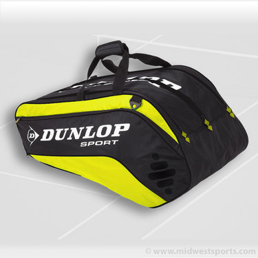 Dunlop Biomimetic Tour 10 Pack Yellow Tennis Bag