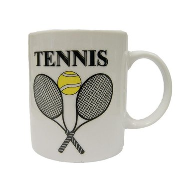 Ceramic Mug with Crossed Raquets T898, Midwest Sports