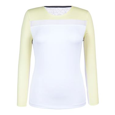 Tail Spring Blooms 3/4 Sleeve Top - Daffodil