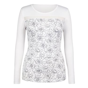 Tail Spring Blooms 3/4 Sleeve Top - Rosa Print