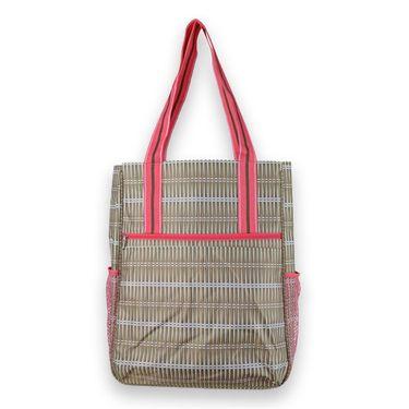 All For Color Tennis Shoulder Bag  - Khaki Rattan