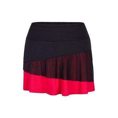Tail Serves Up Colorblock Layered Skirt - Matador Pink/Black