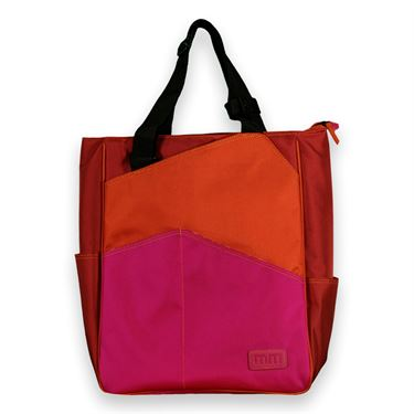 Maggie Mather Tennis 3 Tone Tote-Orange/Red/Fuschia