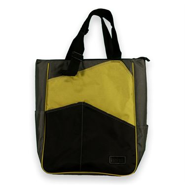 Maggie Mather Tennis 3 Tone Tote-Lime/Pewter/Black