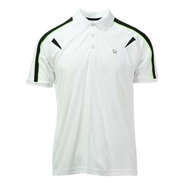 Fila Alpha Polo - White/Black/Bright Lime