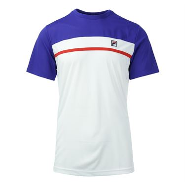 Fila Heritage Contrast Crew - White/Clematis Blue/Chinese Red