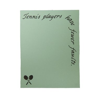 Lite Line Note Pad- Tennis Players TN11-3