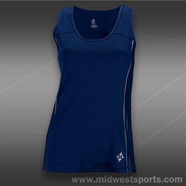 JoFit Kona Rally Tennis Tank-Blue Depth