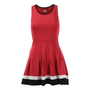 Fila Heritage Racerback Dress - Crimson/Black/White
