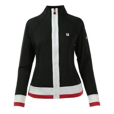 Fila Heritage Jacket - Black/White/Crimson