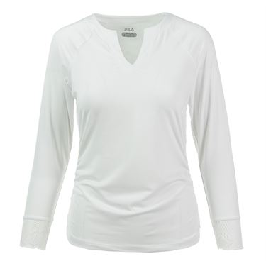 Fila Lure of the Lace 3/4 Sleeve Top - White