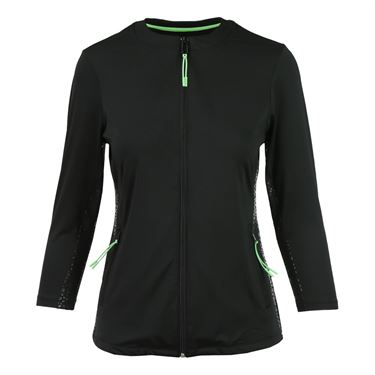 Fila Spotlight Jacket - Black/Lime Tonic